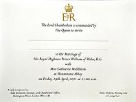 Приглашение на королевскую свадьбу