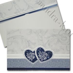 Сине-голубое приглашение на свадьбу 140077-т1