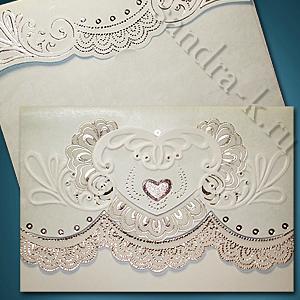 Свадебное приглашение в стиле рококо 32444