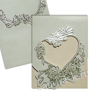 Свадебная пригласительная открытка TBZ 114748