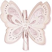 Открытка-бабочка нежно-розовая 108983