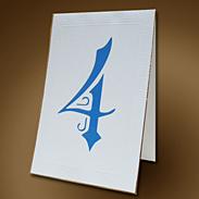Карточка с номером стола 301009ns белая