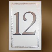 Карточка с номером стола 302006-1 айвори
