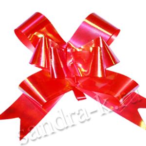 Бант-бабочка 23 мм перламутровый красный