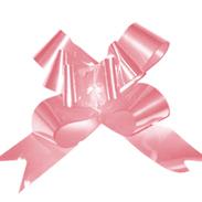 Бант-бабочка 23 мм перламутровый розовый
