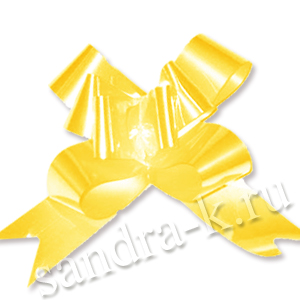Бант-бабочка 15 мм перламутровый желтый