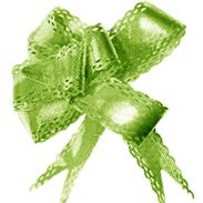 """Бант-бабочка 23 мм мет/тисн/ажур """"Листики"""" зеленый"""