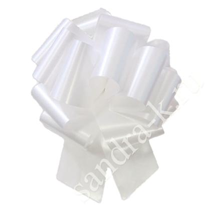 Бант-шар 32А однотонный белый