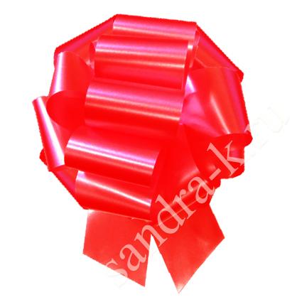 Бант-шар 32А однотонный красный