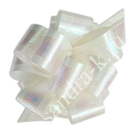 Бант-шар 32П перламутровый белый