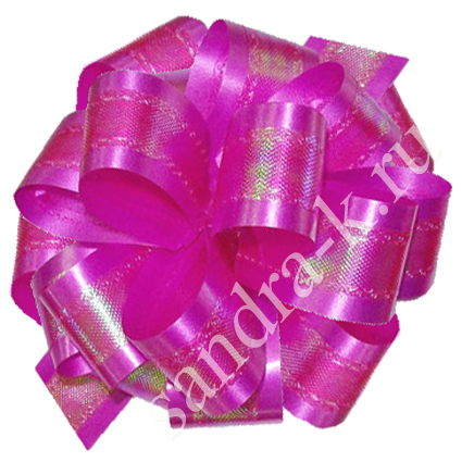 Бант-шар ярко-розовый перламутровый 50П