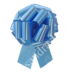 Бант-шар 32А однотонный голубой