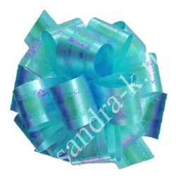 Бант-шар 32П перламутровый голубой