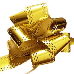 Бант-шар 50МА металлизированный ажурный  золотой