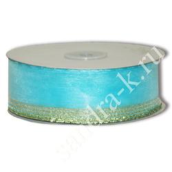 Лента-трансформер 3,8см/45м органза голубая