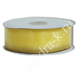 Лента-трансформер 3,8см/45м органза желтая