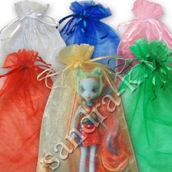 Мешочки из органзы 20-30 см однотонные 6 цветов МИКС