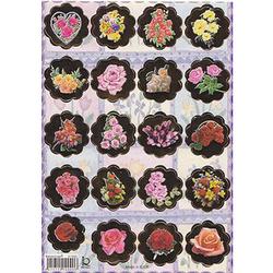 Наклейка цветы металл. 510090