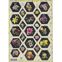 Наклейка цветы металл. 510093