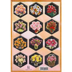 Наклейка цветы металл. 510095