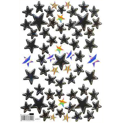 Наклейка звезды металл. 47017