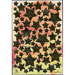 Наклейка звезды металл. 47200