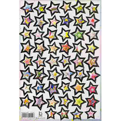 Наклейка звезды металл. 510102