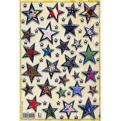 Наклейка звезды металл. 510104