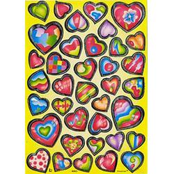 Наклейка сердечки металл. 40823