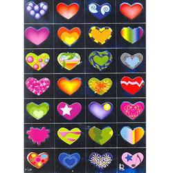Наклейка сердечки металл. 47028