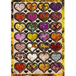 Наклейка сердечки металл. 47198
