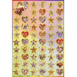 Наклейка сердца и звезды 47246