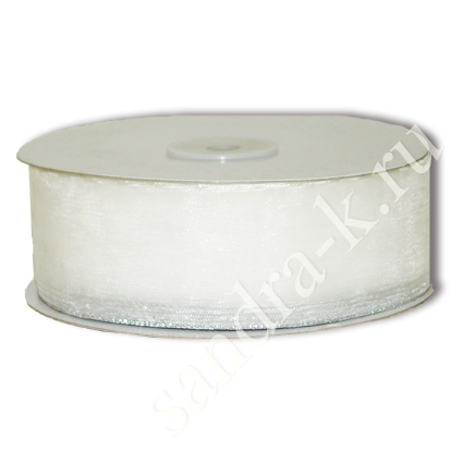 Лента-трансформер 3,8см/45м органза белая
