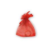 Мешочки из органзы 7-9 см красные