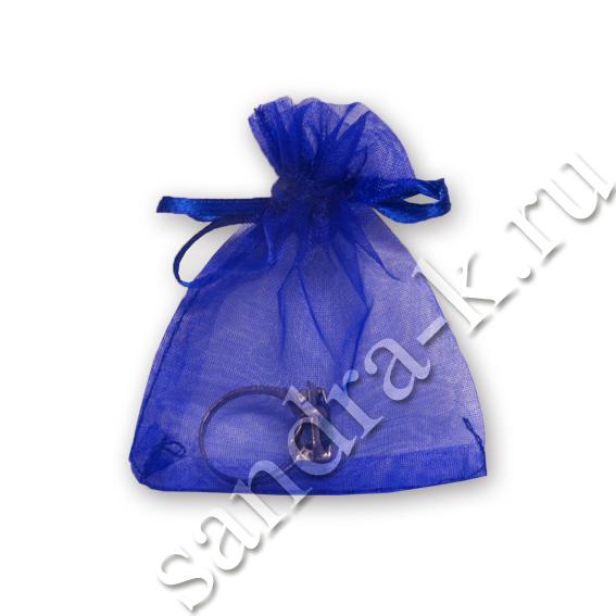 Мешочки из органзы 7-9 см синие