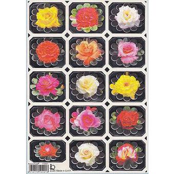 Наклейка цветы металл. 510091