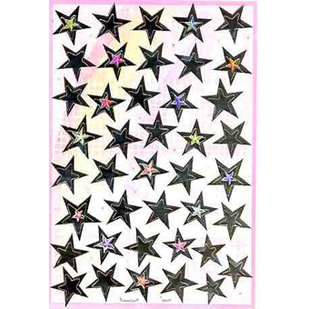 Наклейка звезды металл. 38697