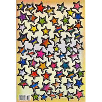 Наклейка звезды металл. 47006
