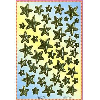 Наклейка звезды металл. 692169