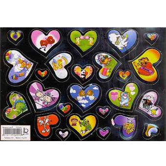 Наклейка сердечки металл. 510029