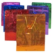 Сумки  32-45-11 см голографические бумажные МИКС G1080